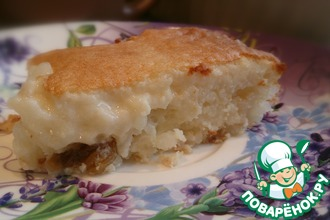 Рисовая запеканка-пирог на завтрак