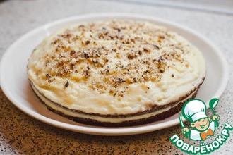Торт с заварным кремом и орехами
