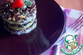 Закуска из кольраби с диким рисом