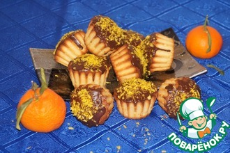 Кокосовые кексы с мандаринами