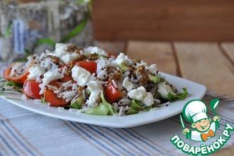 Салат из смеси круп в итальянском стиле