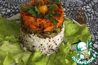 Закусочный салат с рисом и киноа