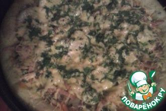 Пицца на хрустящем сладком тесте