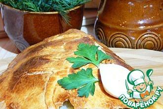 Пирог на сметане с тунцом и рисом