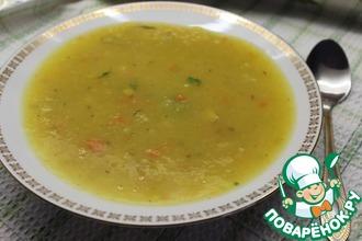 Тыквенный суп-пюре с горохом