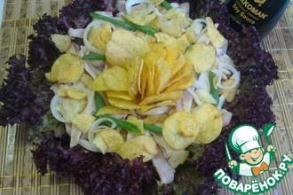 Салат с кальмарами и соевым соусом