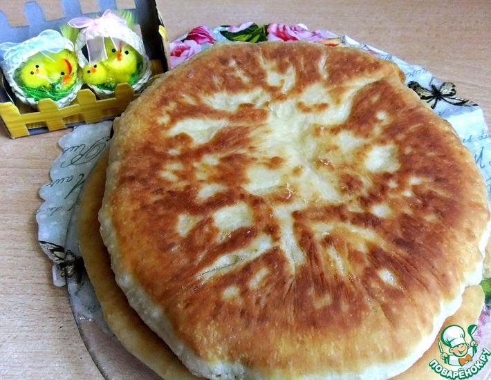 Быстрый сырный пирог на сковороде