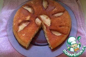 Шарлотка с яблоками на сковороде