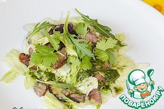 Салат из баранины-гриль с мятной заправкой