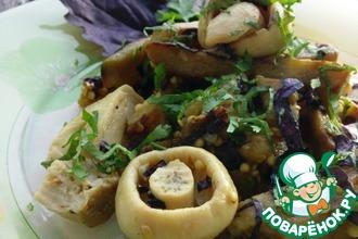 Салат из баклажанов с грибами