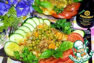Тёплый картофельный салат