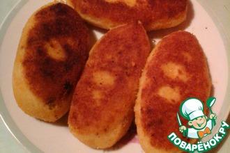 Зразы картофельные с печенкой