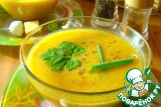 Суп-пюре овощной с томатным соком