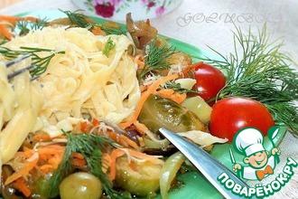 Тальятелле с овощами и соусом Терияки