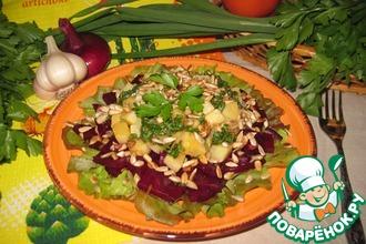 Салат из брюквы и свеклы