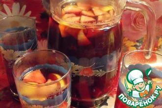 Чай с печеными ягодами и фруктами