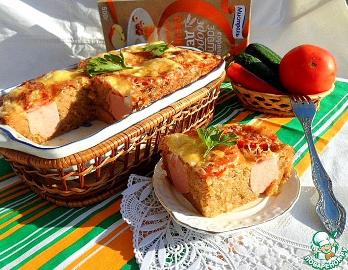 Гречневая запеканка с сардельками под томатной корочкой