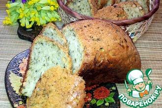Белый хлеб с нутом и черемшой