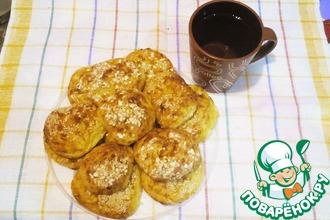 Сырно-творожные булочки с овсяными хлопьями