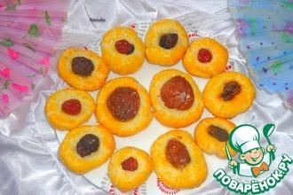 Творожное печенье с сухофруктами