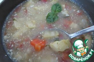 """Овощной суп с фасолью по мотивам """"Минестроне"""""""