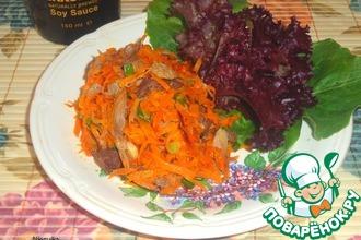 Морковно-мясной салат