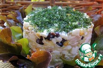 Салат с черной фасолью и капустой