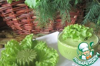 Суфле из сока листьев салата