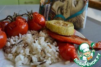 Овощи-гриль с рисом