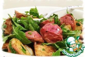 Салат с запечённым картофелем