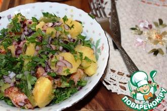Картофельный салат с беконом и стручковой фасолью
