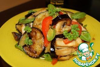 Теплый овощной салат с щавелем