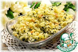 Рассыпчатый рис с беконом и шпинатом