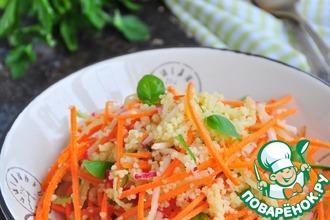 Постный салат из кускуса и овощей