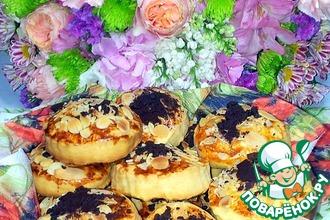 Печенье с миндальными лепестками и шоколадом