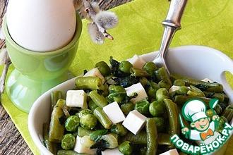 Карри из зеленых овощей с брынзой