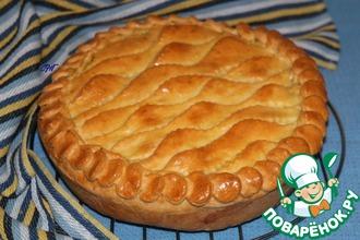 Пирог с картофельным пюре и рыбой