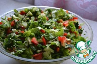 """Салат """"Весенний"""" с кресс-салатом"""