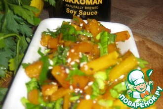 Лёгкий салат из маринованной тыквы