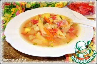 """Суп овощной с макаронами """"Кислинка"""""""