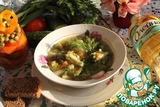 Зеленый суп с индейкой