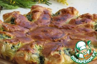 Пирог с рикоттой и зеленью