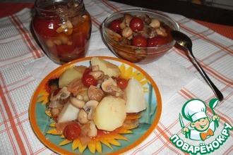 Грибы с томатами