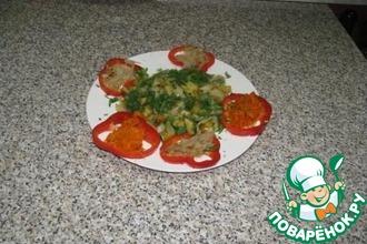 Кальмары с жареной картошкой