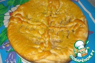 Пирог с квашеной капустой и грибами