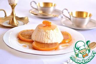 Суфле из йогурта с пряными апельсинами