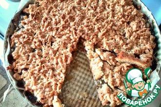 Тёртый пирог с вареньем из киви