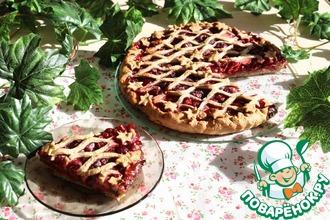 Легкий пирог с ягодами