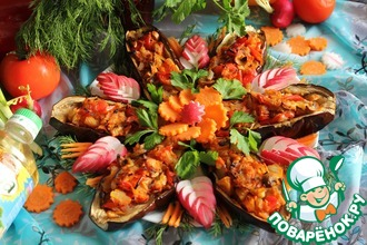 Баклажаны с овощной начинкой