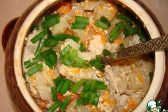 Капуста с курицей в сметанно-соевом соусе